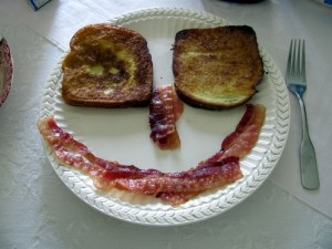 smiley face breakfast